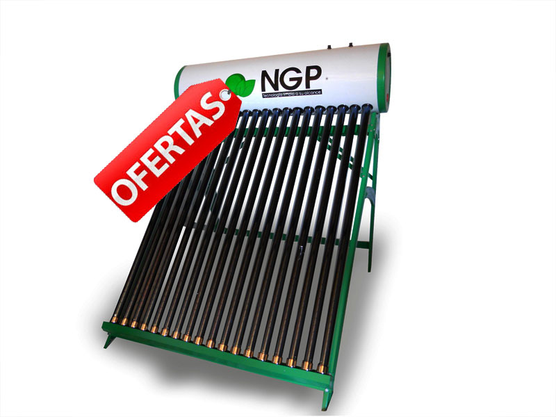 Termo solar presurizado compacto heat pipe 18 tubos for Termo solar precio